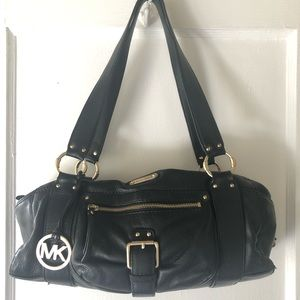 Michael Kors Black Austin Leather Handbag
